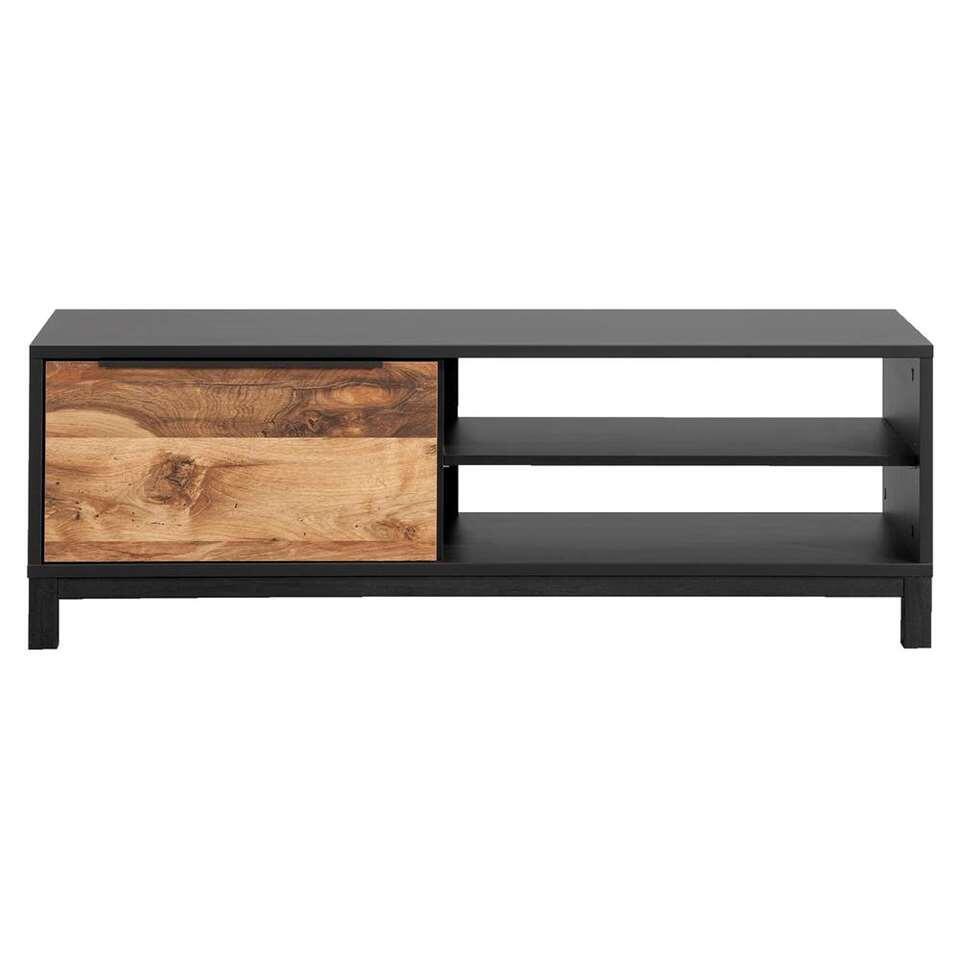 TV-dressoir Luc - antraciet-/eikenkleur - 44x128x48 cm