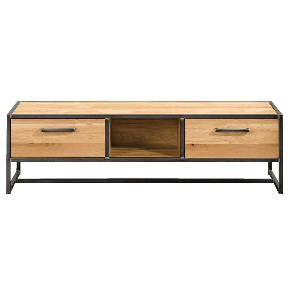 Dressoir TV Jace - couleur naturelle/gris - 40x140x45 cm
