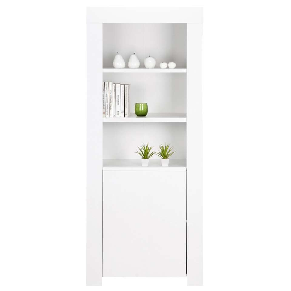 biblioth que amalfi blanc brillant 170x70x50 cm. Black Bedroom Furniture Sets. Home Design Ideas