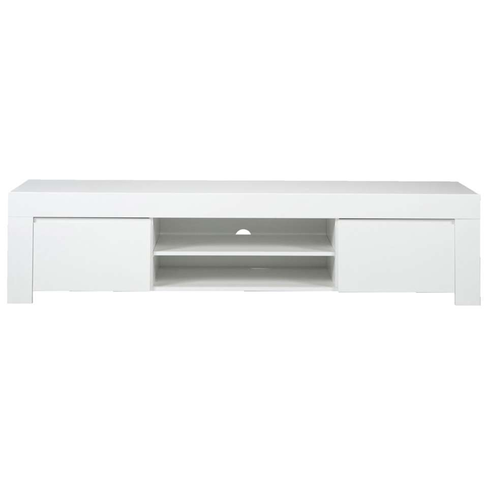 Dressoir TV Amalfi - blanc brillant - 45x190x50 cm