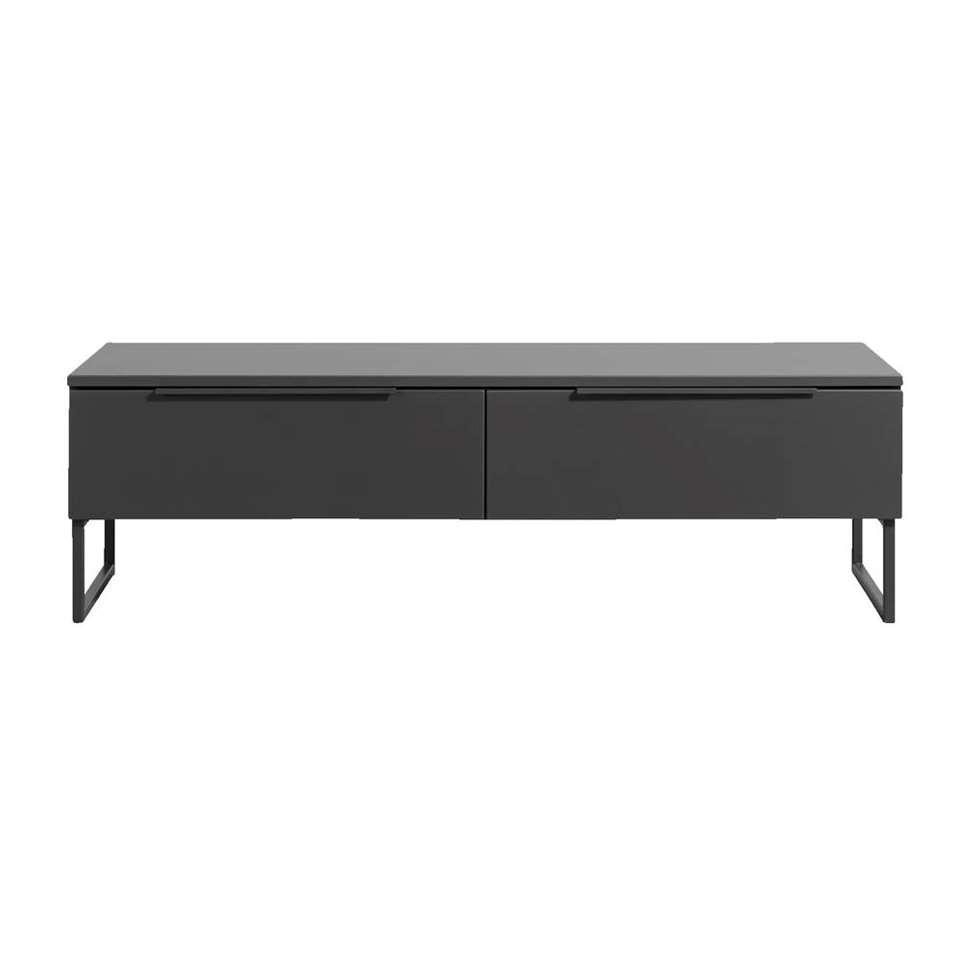 Dressoir tv Malaga - couleur anthracite/noir - 43x141x48 cm