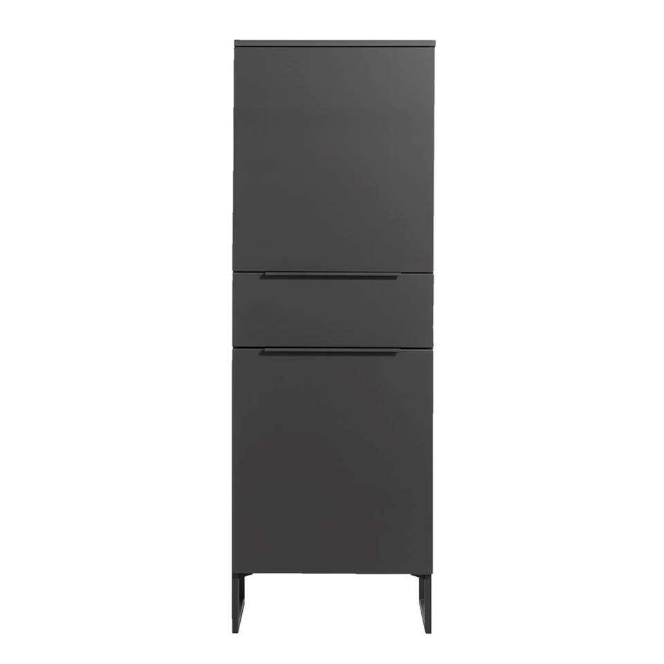 Kast Malaga - antracietkleur/zwart - 175x60x41 cm
