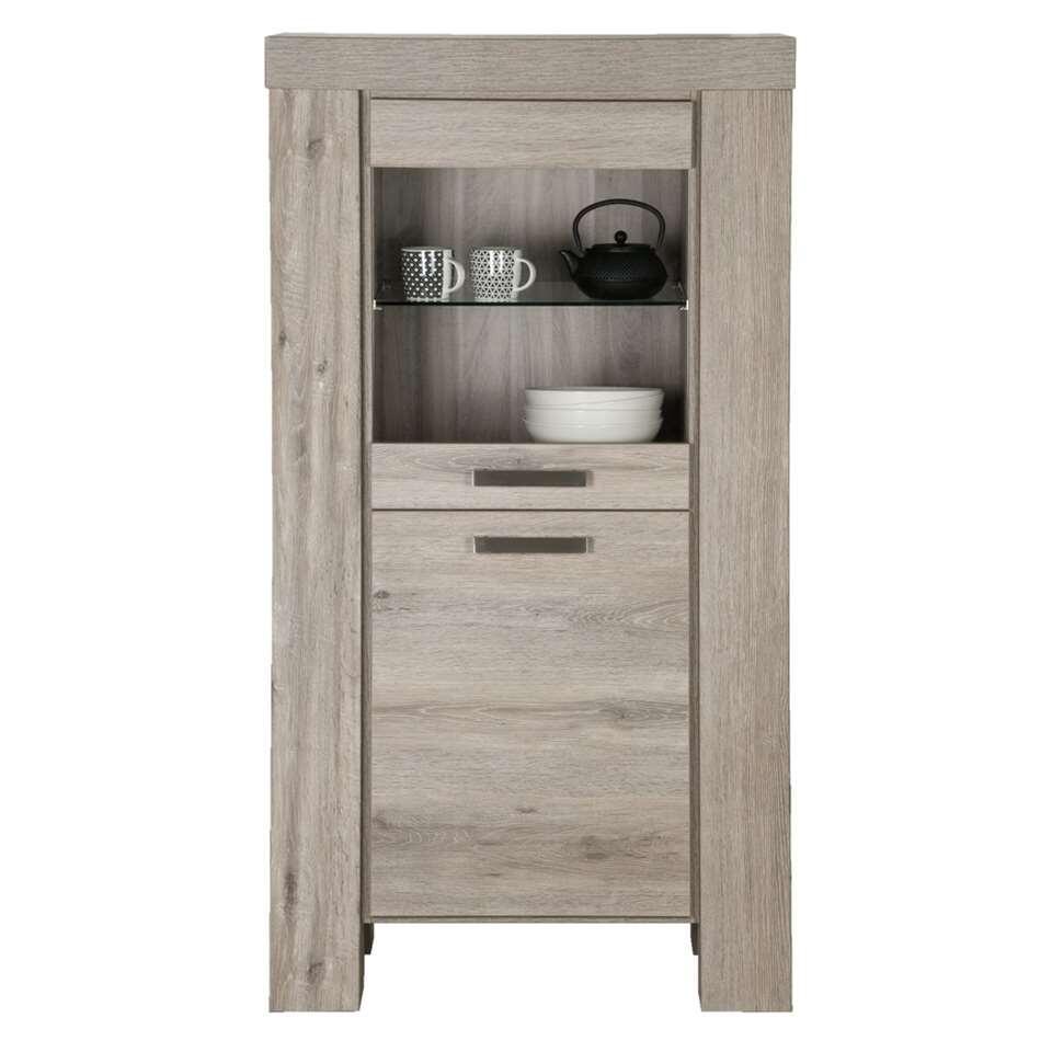 vitrine mick couleur ch ne brun clair. Black Bedroom Furniture Sets. Home Design Ideas