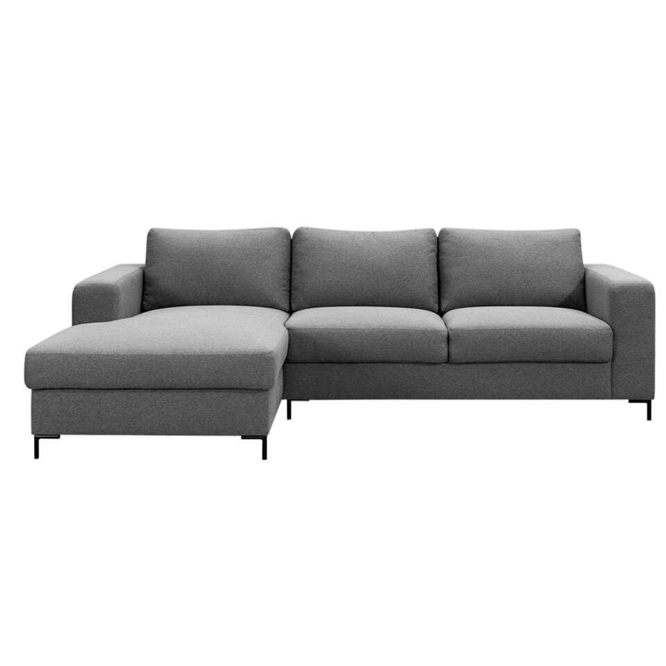 Zetel Tom met chaise longue medium - grijs 90
