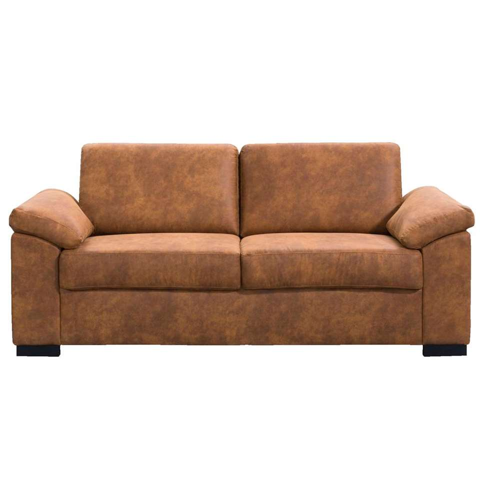 Canapé Tom 2,5 places - tissu Preston en couleur cognac 24