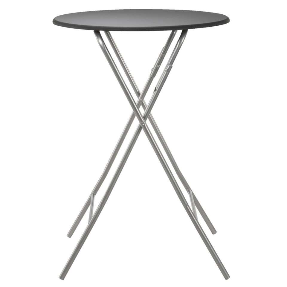 Table de bar Asten escamotable - noir - 80x112 cm