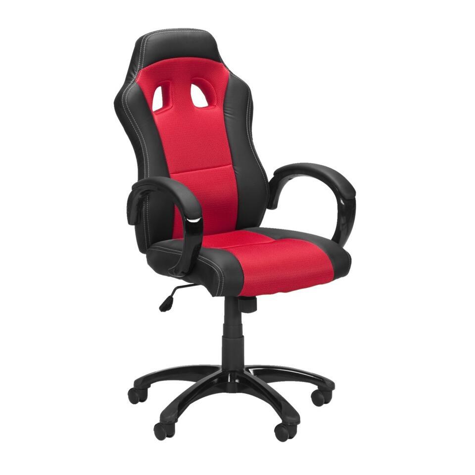 Bent u een raceautoliefhebber? Dan mag de Monza bureaustoel zeker niet ontbreken achter uw bureau! Het stoere design van de felrode stoel is gebaseerd op een echte autoracestoel.