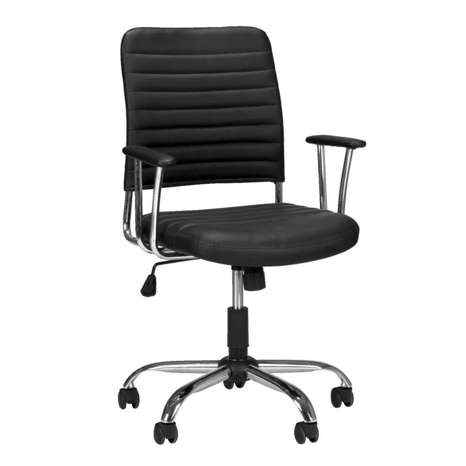 Bureaustoel Newark is een zwarte en comfortabele bureaustoel met wieltjes. Deze moderne bureaustoel is in hoogte verstelbaar zodat je heel gemakkelijk de voor jou ideale stand kunt instellen. Zo kun je vele uren prettig werken.