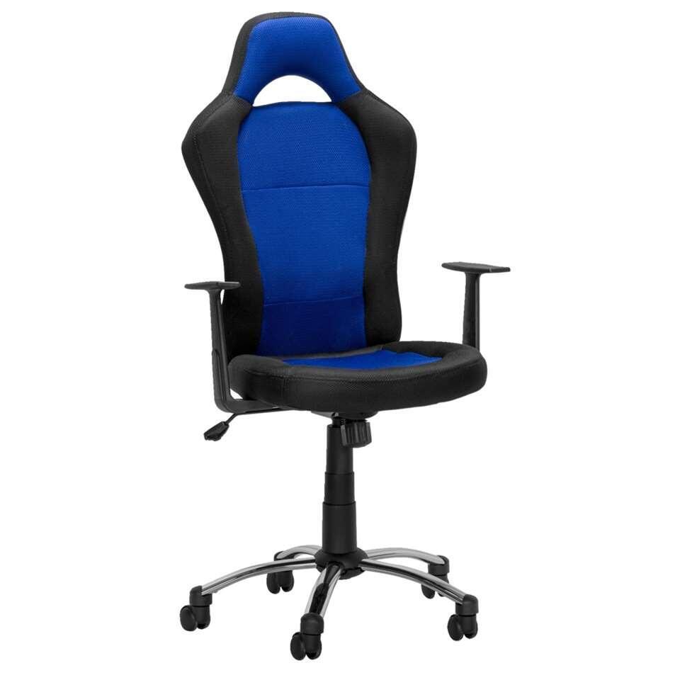 chaise de bureau toledo noir bleu. Black Bedroom Furniture Sets. Home Design Ideas