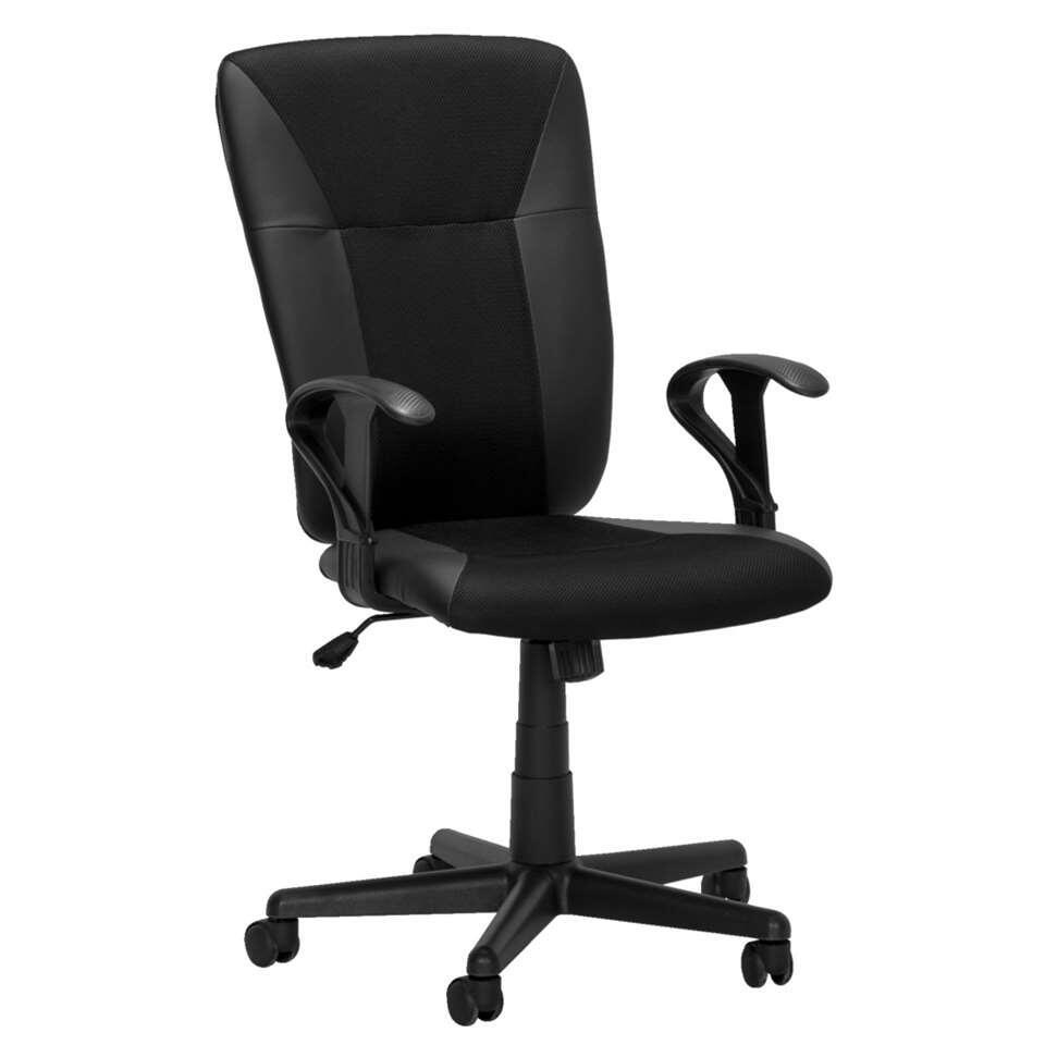 chaise de bureau seattle 2 noir. Black Bedroom Furniture Sets. Home Design Ideas