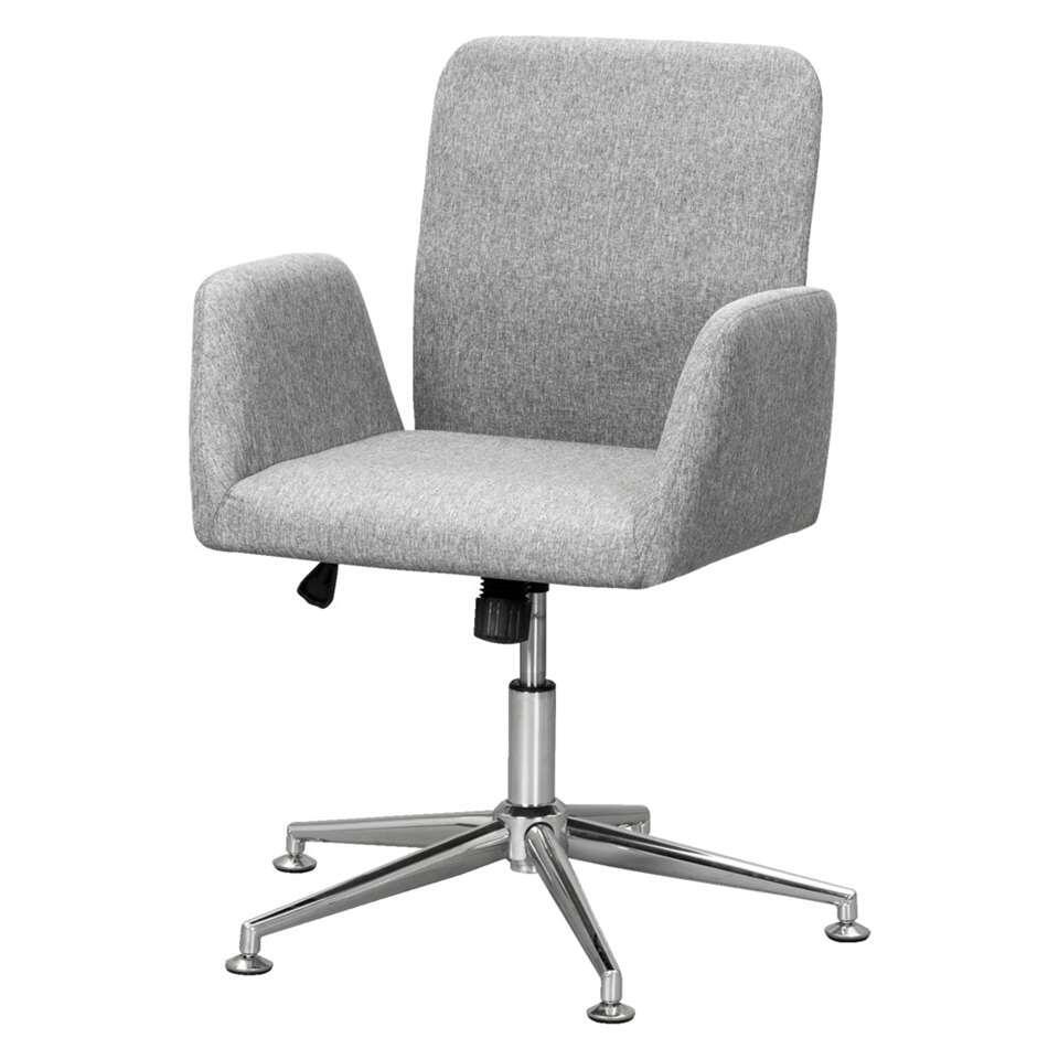 chaise de bureau trento grise. Black Bedroom Furniture Sets. Home Design Ideas