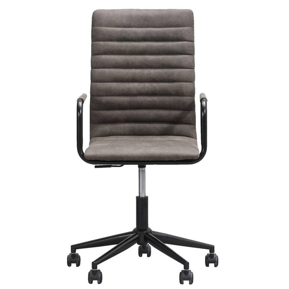 Bureaustoel Kyan is een klassieke stoel met een comfortabele zit. Deze bureaustoel heeft een veelzijdige antracietgrijze kleur waardoor deze altijd in uw woon- en werkinterieur past. De zithoogte van deze stoel is verstelbaar.
