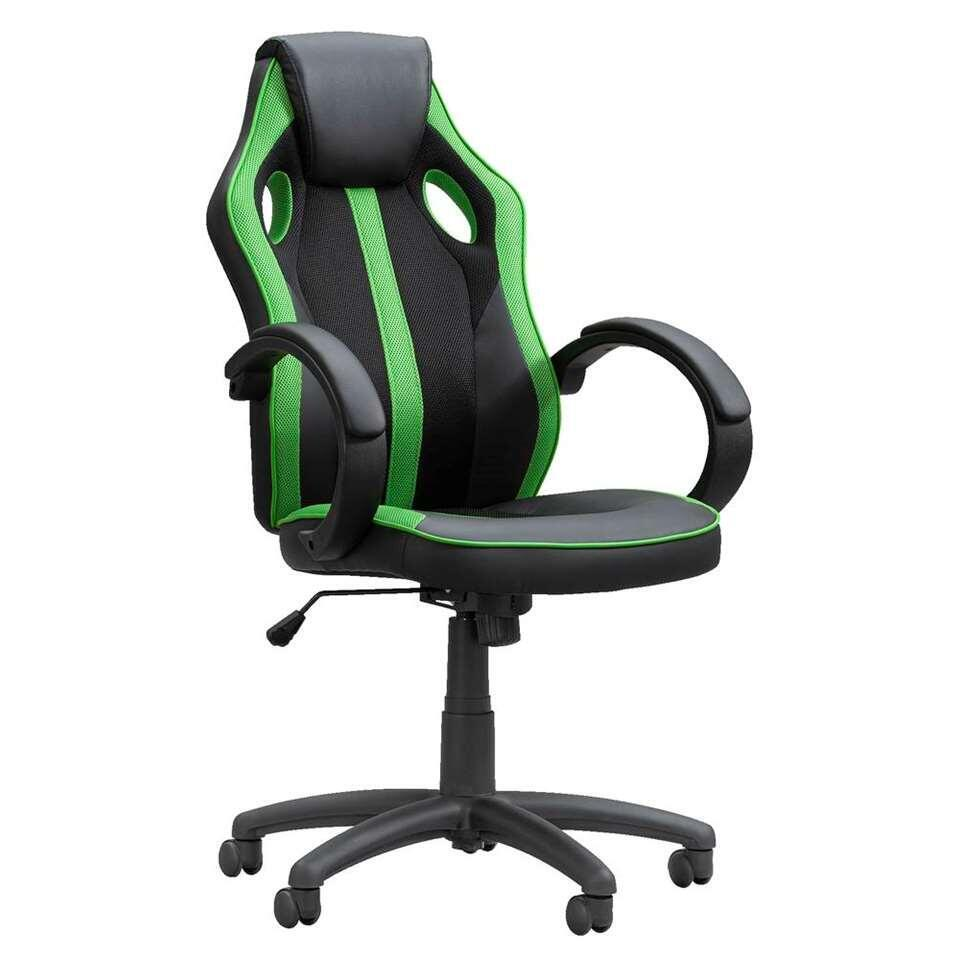 Chaise gamer Max - noire/verte