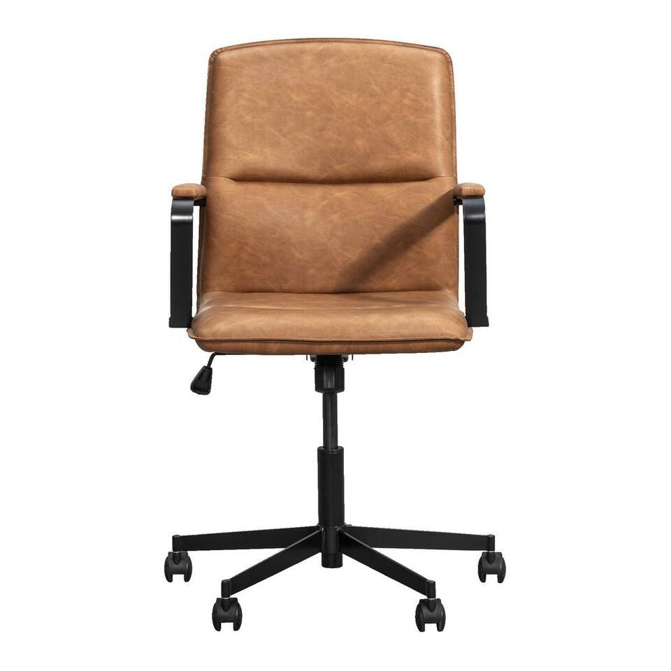 Chaise de bureau Trevor - couleur cognac