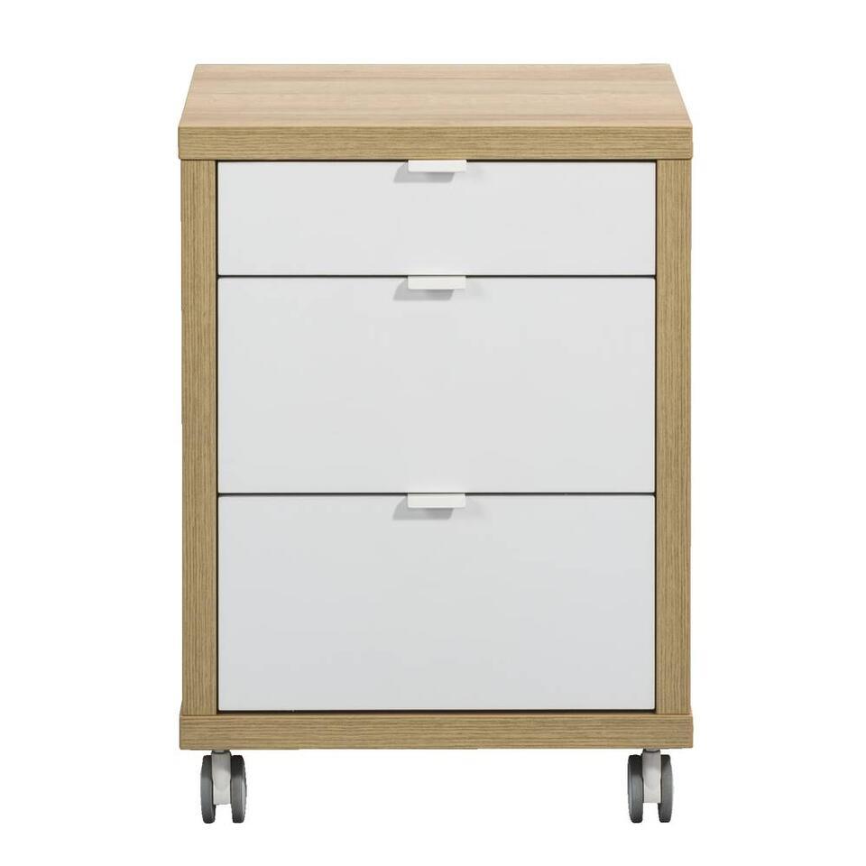 Bloc à tiroirs Schema - couleur chêne - 45x45x62,5 cm