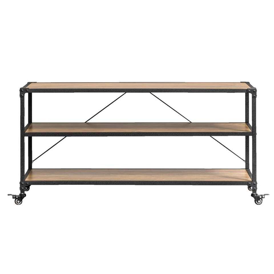 TV-meubel Lennox - bruin/zwart - 58x120x39,5 cm