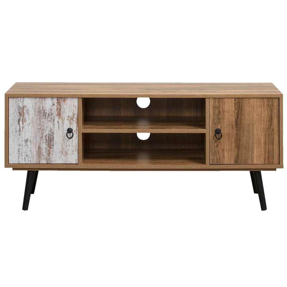 Tv-dressoir Noah - bruin/grijs - 50,5x119x39 cm