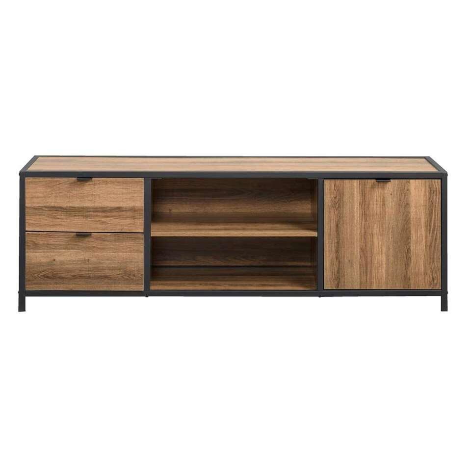 Tv-dressoir Bodhi - bruin/zwart - 45x140x39 cm
