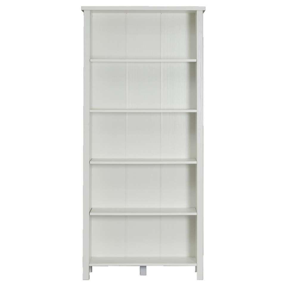 Boekenkast Bianca - wit - 179,5x80x32 cm