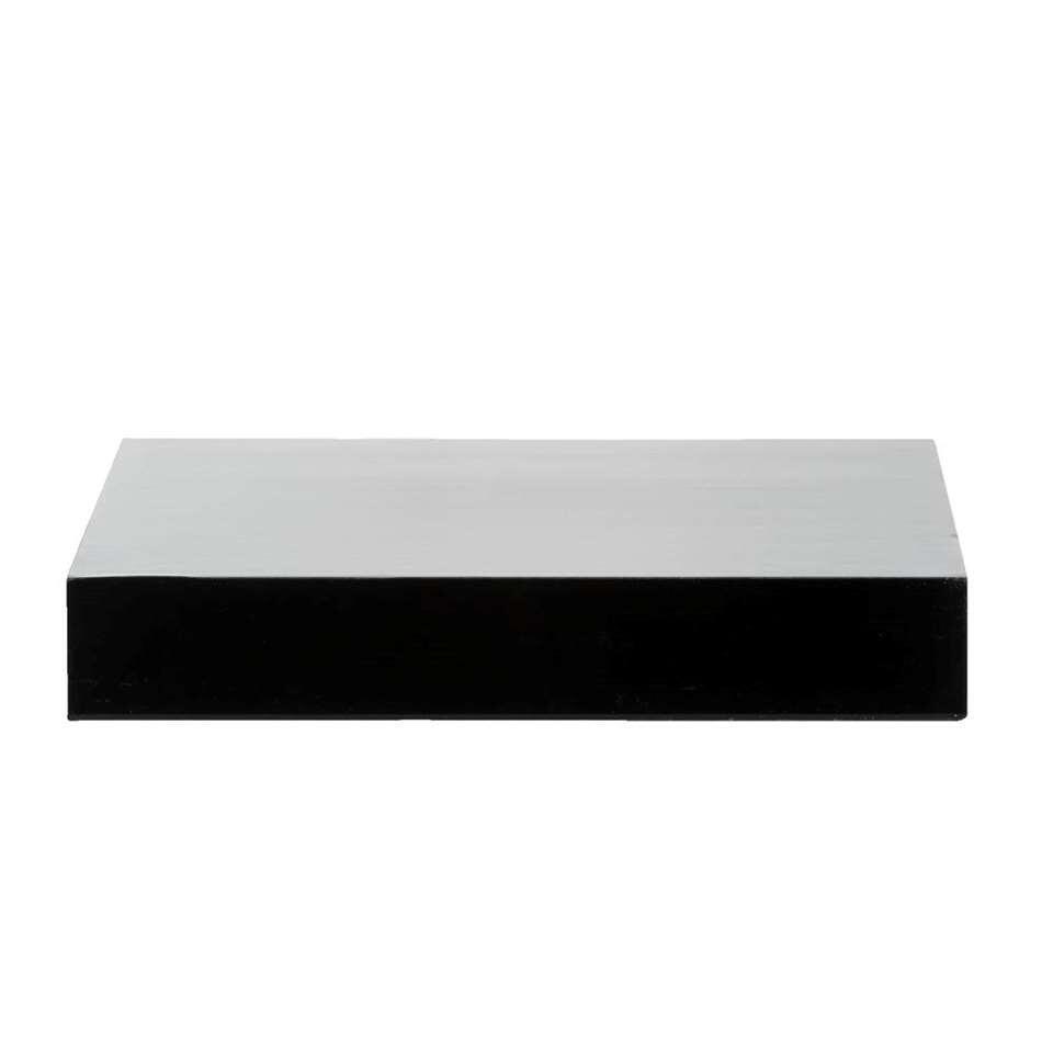 Wandplank 40 Cm.Wandplank Hoogglans Zwart 3 8x60x23 5 Cm
