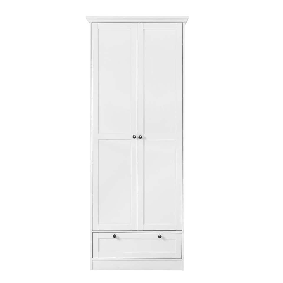 Rangement Vera 2 portes - blanc - 200x80x39 cm