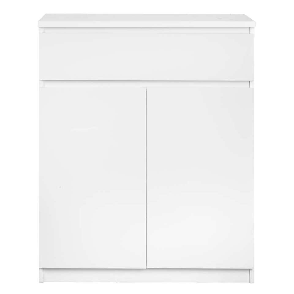Rangement Naia - blanc brillant - 100x80x40 cm