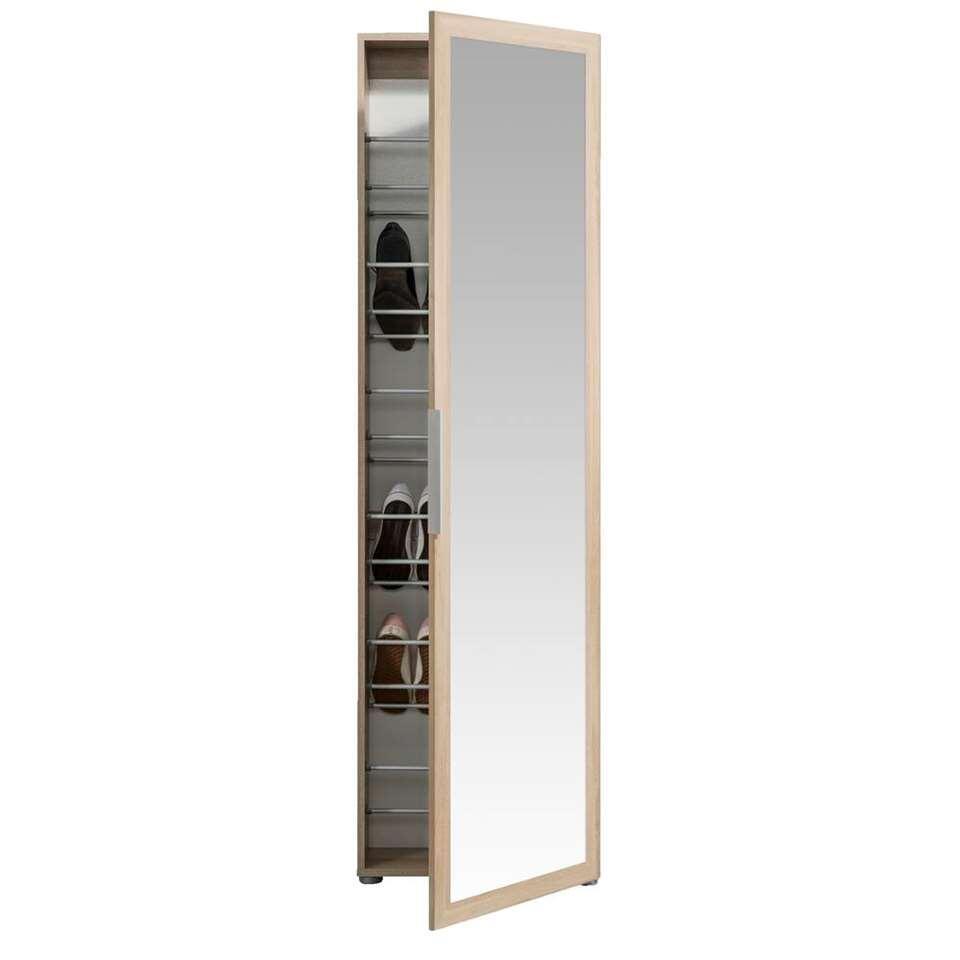 Schoenenkast Rijssel - eikenkleur - 172,5x50x20 cm