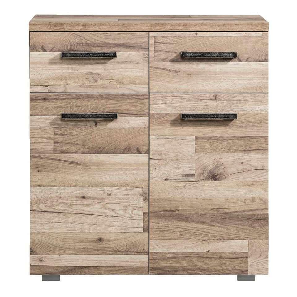 Rangement Gomera 2 portes et 2 tiroirs - structure de bois - 85x78x38 cm