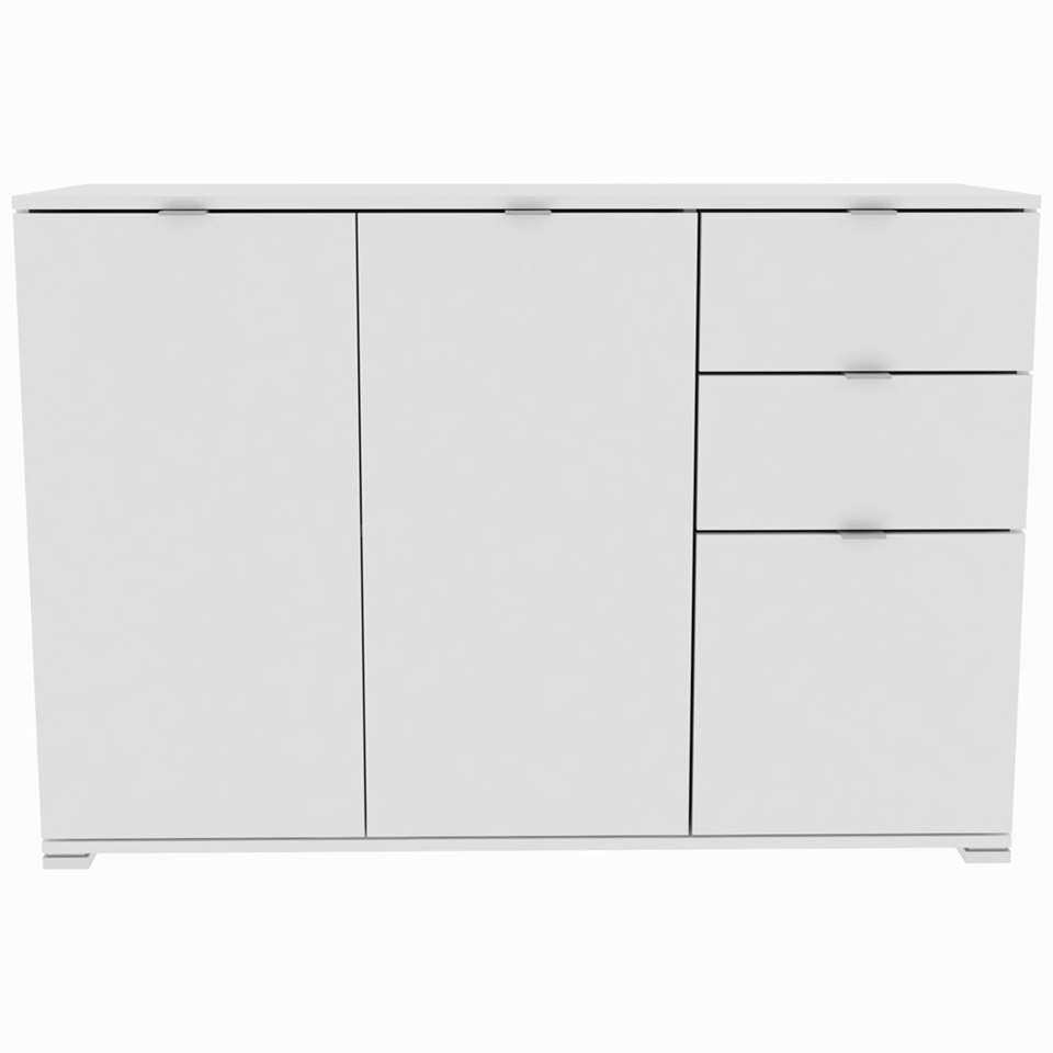 Dressoir Perfect 5 - blanc - 82x120x42 cm