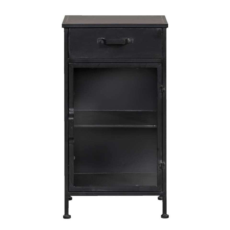 Kast Jayden - zwart - 78x45x32,5 cm