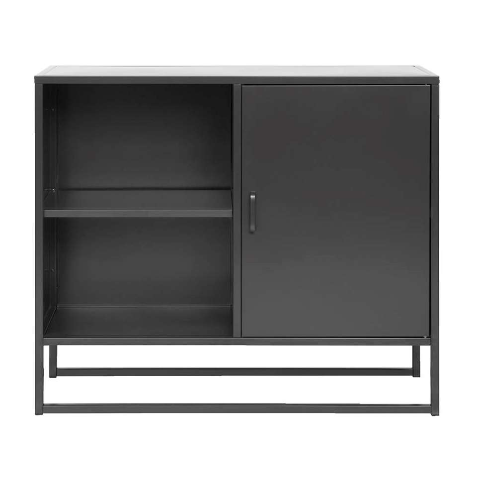 Dressoir Aalborg - zwart - 85x100x35 cm