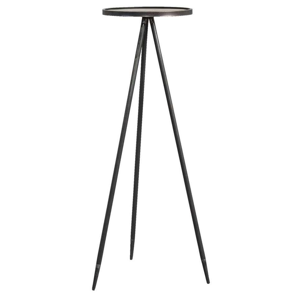 Table à plantes Nolan - couleur zinc - Ø35x98,5 cm