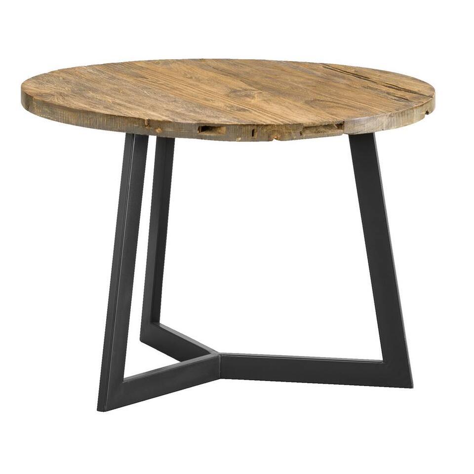 Bijzettafel Genua - zwart/naturel - 40x56 cm