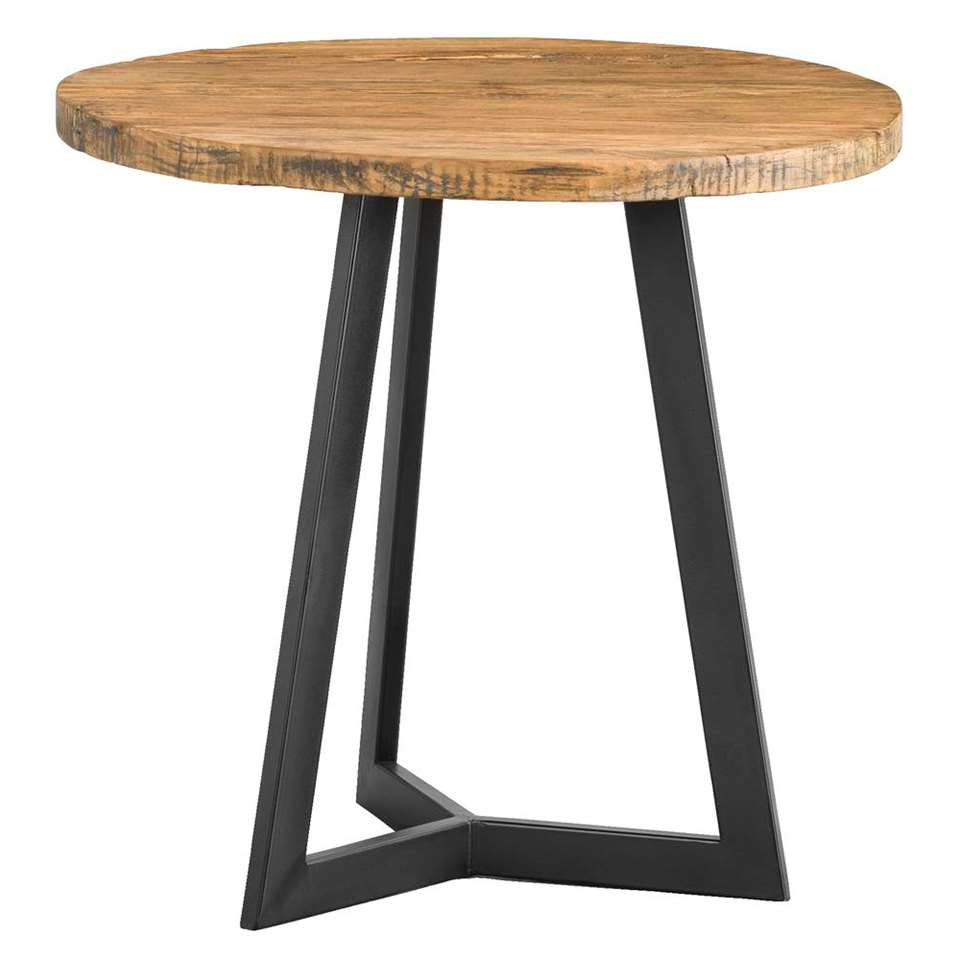 Table d'appoint Genua - noire - 47xØ50 cm