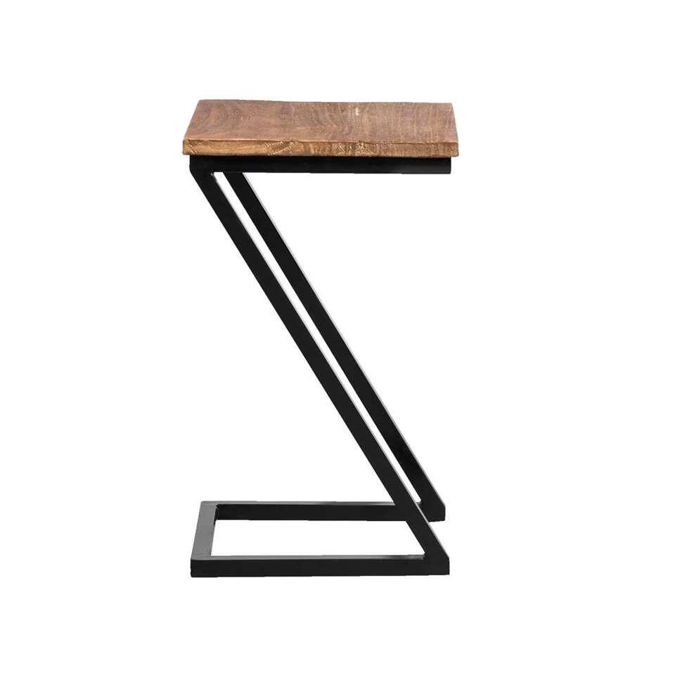 Table d'appoint Ravenna - noire/naturelle - 50x30x30 cm
