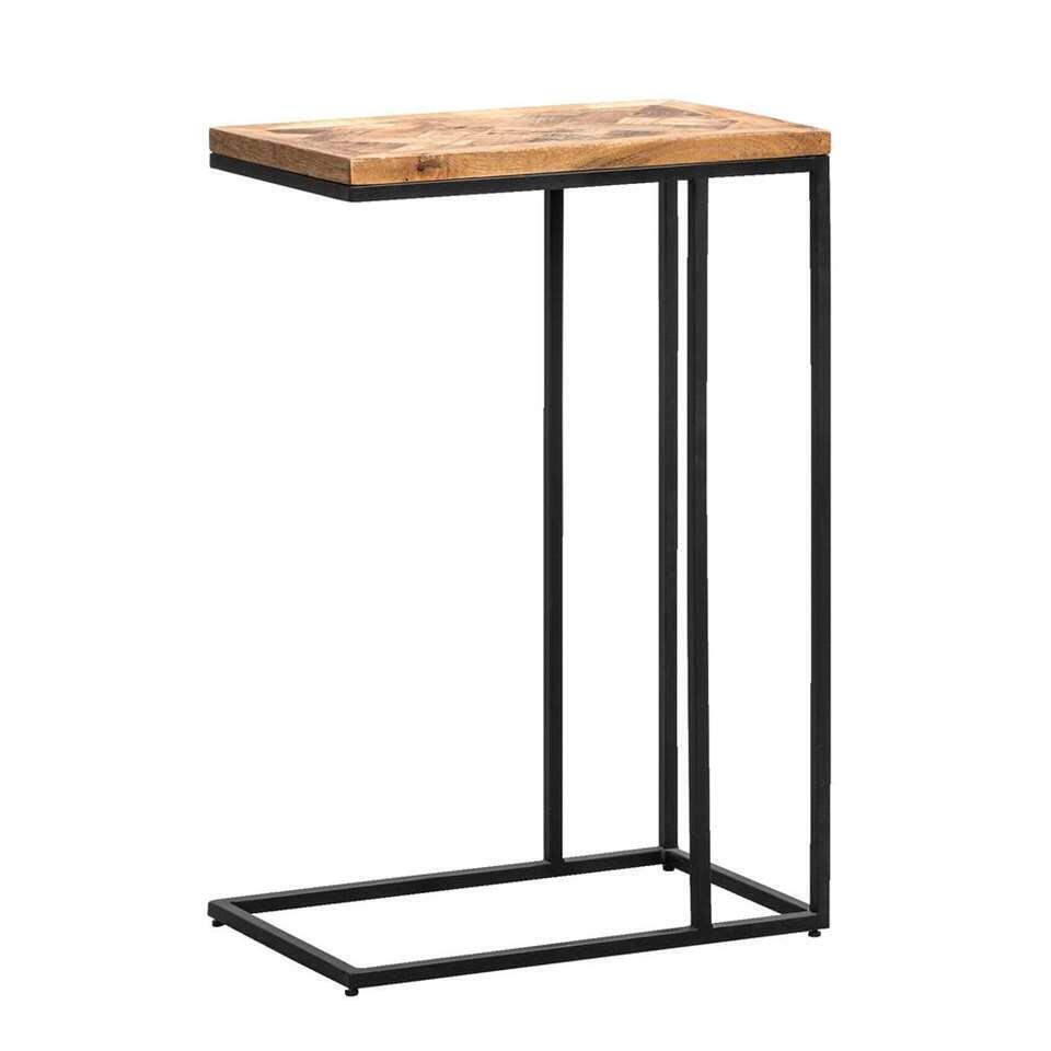 Table d'appoint Mason - brune/noire - 60x40x25 cm