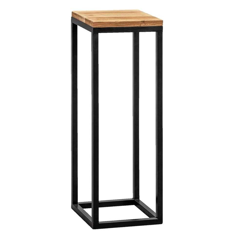 Plantentafel Gijs - naturelkleur/zwart - 70x25x25 cm