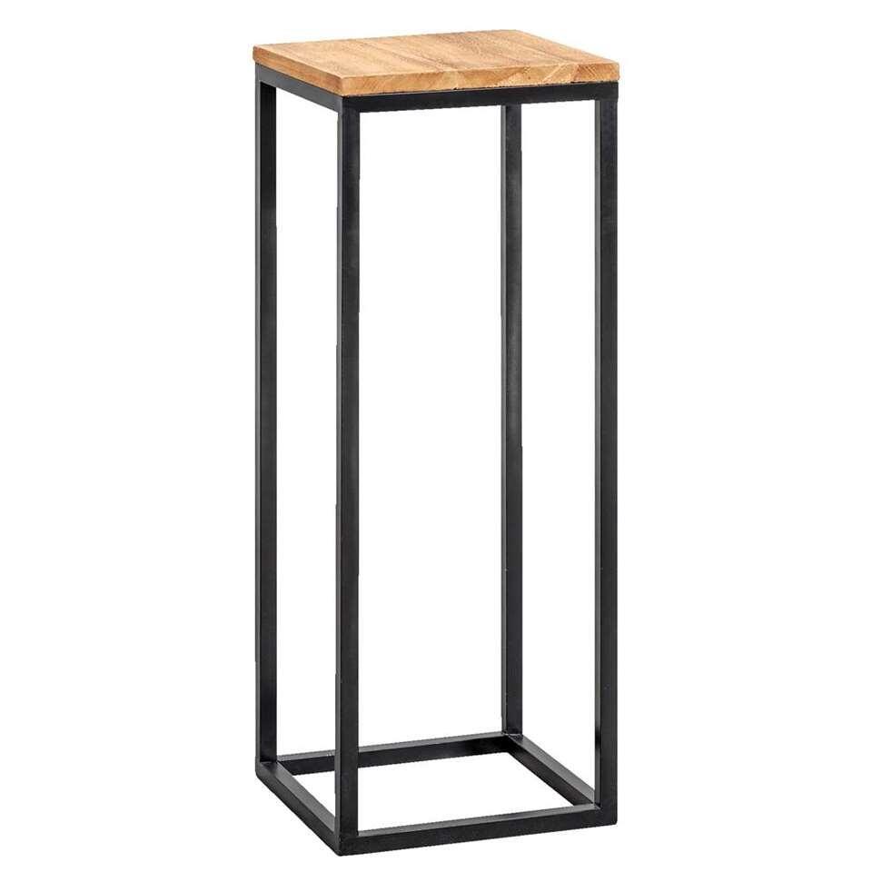 Plantentafel Gijs - naturelkleur/zwart - 79x30x30 cm