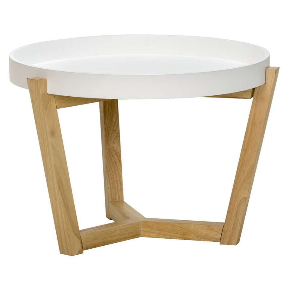 Table d'appoint Tunis - couleur naturelle - 55x40 cm