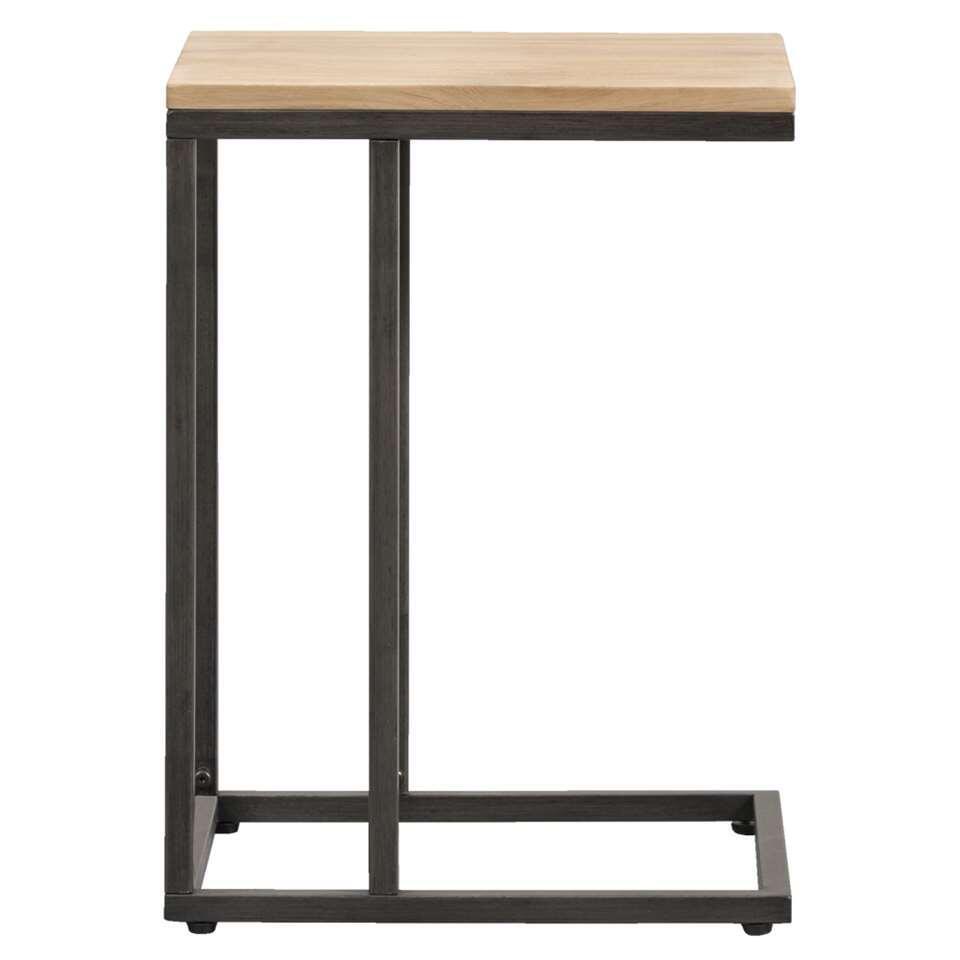 Deze tafel Vancouver is heel handig. U schuift het blad heel gemakkelijk over de leuning van de zetel of fauteuil. Zo hebt u een handig tafelblad bij de hand voor uw drankje, uw mobiele telefoon of de afstandsbediening van de tele