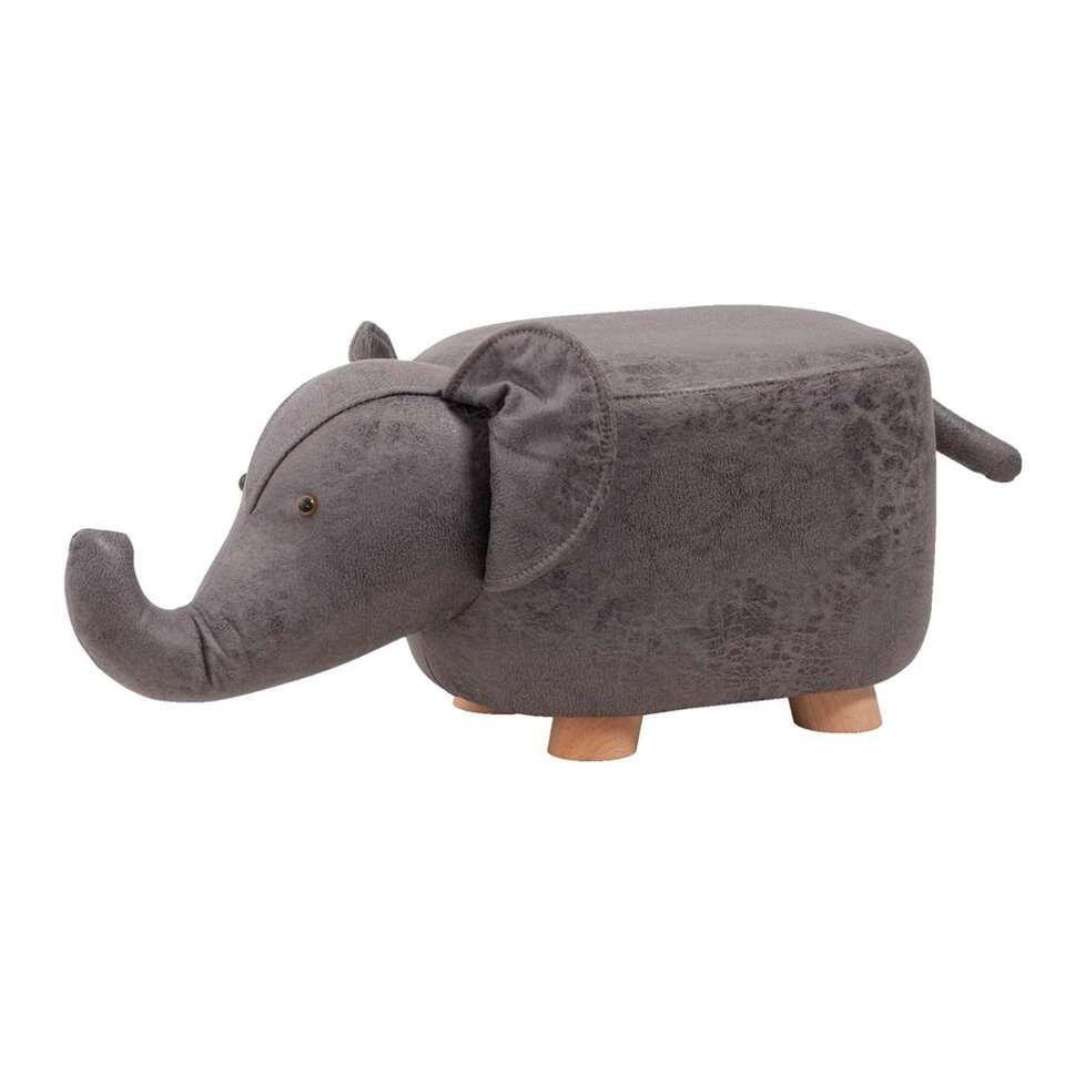 Tabouret léphant - gris - 56x25x25x25 cm