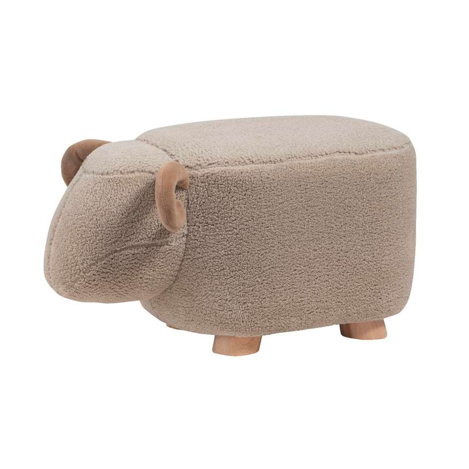 Tabouret Mouton - gris - 56x25x25 cm