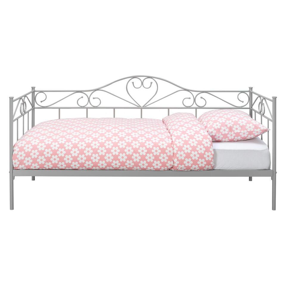 Sofabed Valerie - mat grijs - 90x200 cm