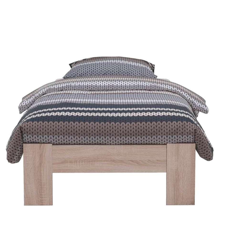 Bed Sydney - eikenkleur - 200x90x33 cm