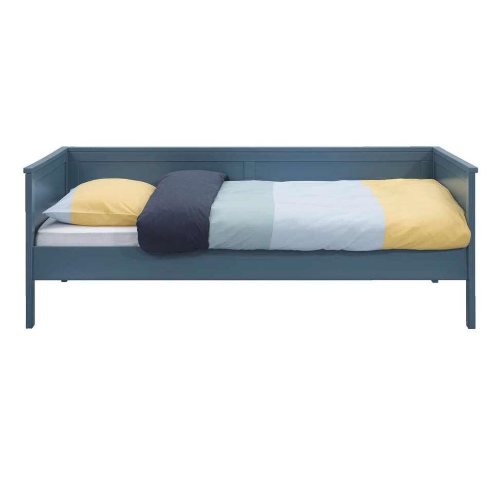 Zetelbed Thomas - steenblauw - 90x200 cm