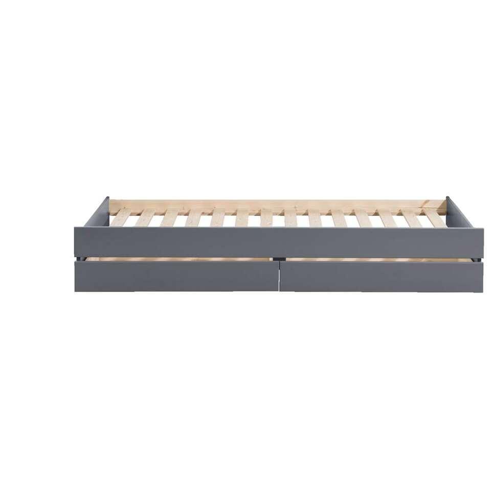 rehausseur de lit ties avec tiroirs anthracite. Black Bedroom Furniture Sets. Home Design Ideas