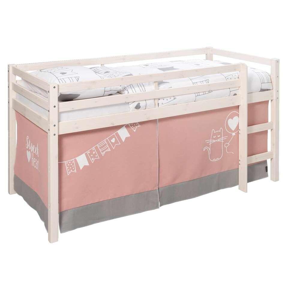 tente de lit sweet heart rose grise pour lit sur lev. Black Bedroom Furniture Sets. Home Design Ideas