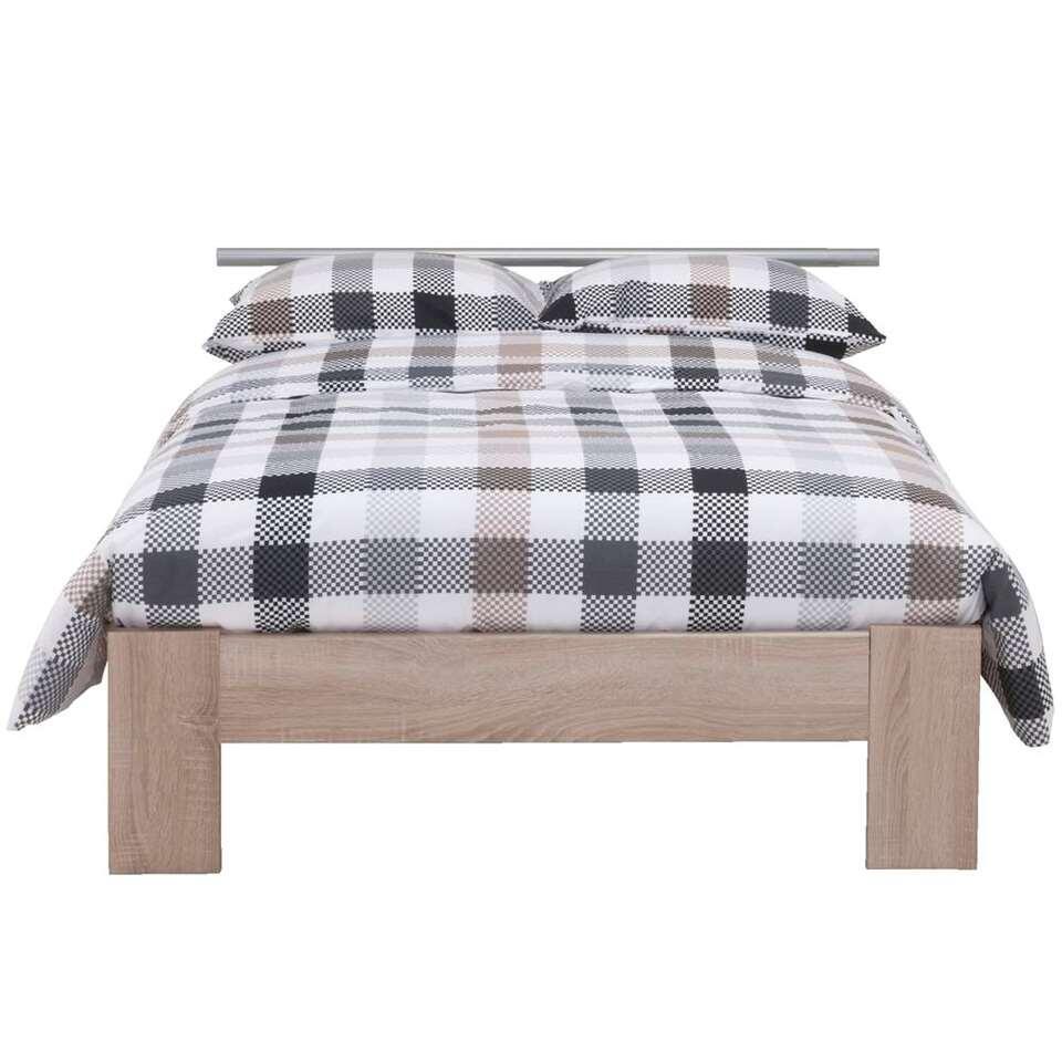lit sydney avec t te de lit couleur ch ne 120x200 cm. Black Bedroom Furniture Sets. Home Design Ideas