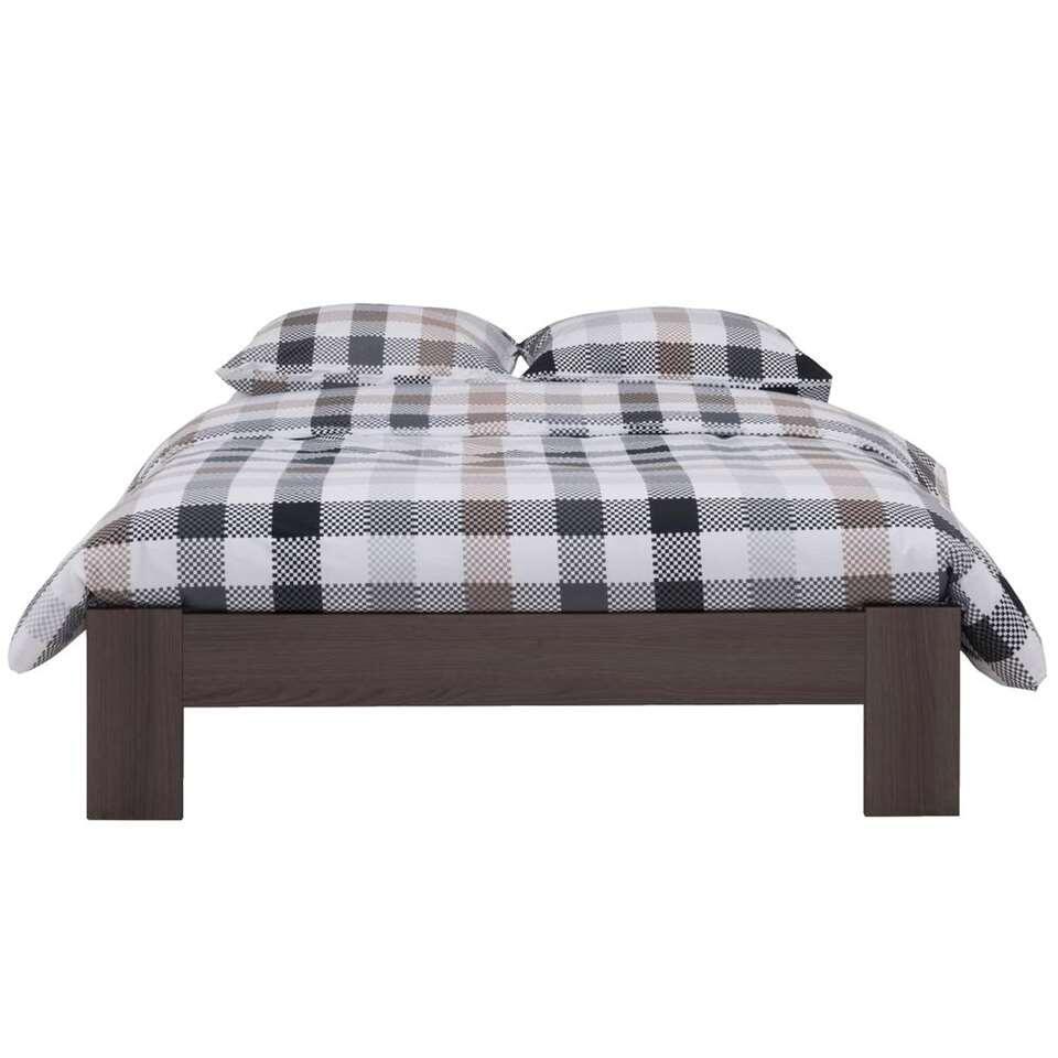 lit sydney couleur ch ne gris 160x200 cm. Black Bedroom Furniture Sets. Home Design Ideas