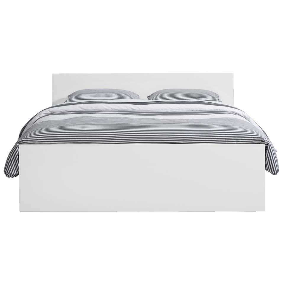 Bed 140x200 Wit.Bed Naia Hoogglans Wit 140x200 Cm